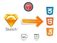 Sketch to html – верстка страницы