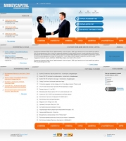 Верстка сайта для MONEYCAPITAL
