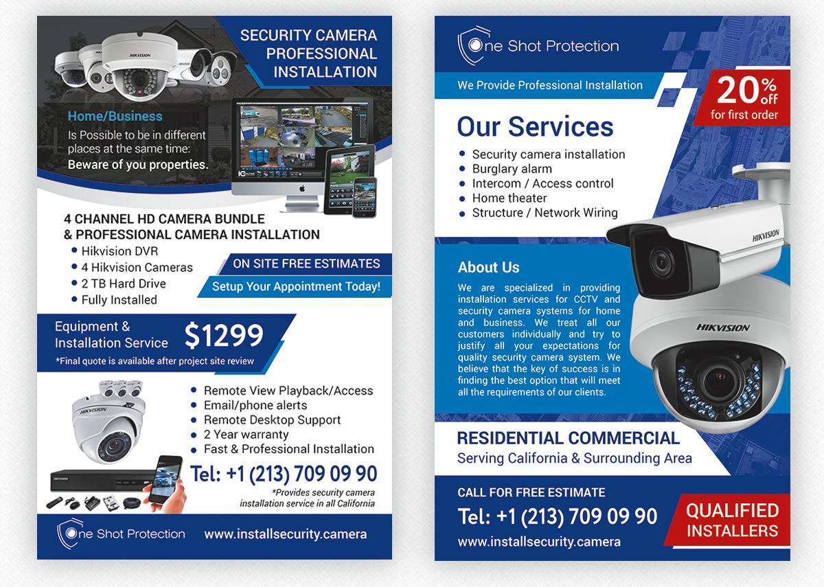 """Листовка А5 """"Security Camera"""""""