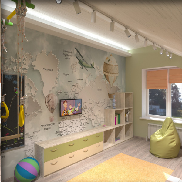Детские комнаты на мансарде