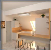Интерьер квартиры, мансардный этаж