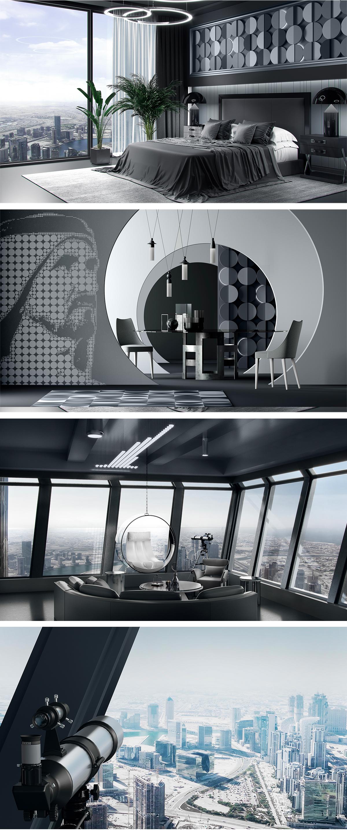 Burj Boutique (создание бренда для самого высокого отеля в мире)