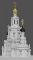 Модель церкви для 3Д печати