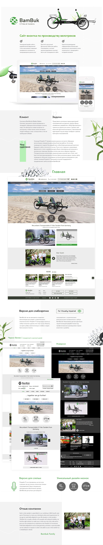 Разрабока концепции диазйна и сайта по велотрайкам в германии