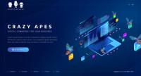 Дизайн и верстка сайта CrazyApes