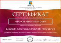 Сертификат CGstudy