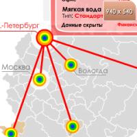 Анимированная карта (демо ролик организации)
