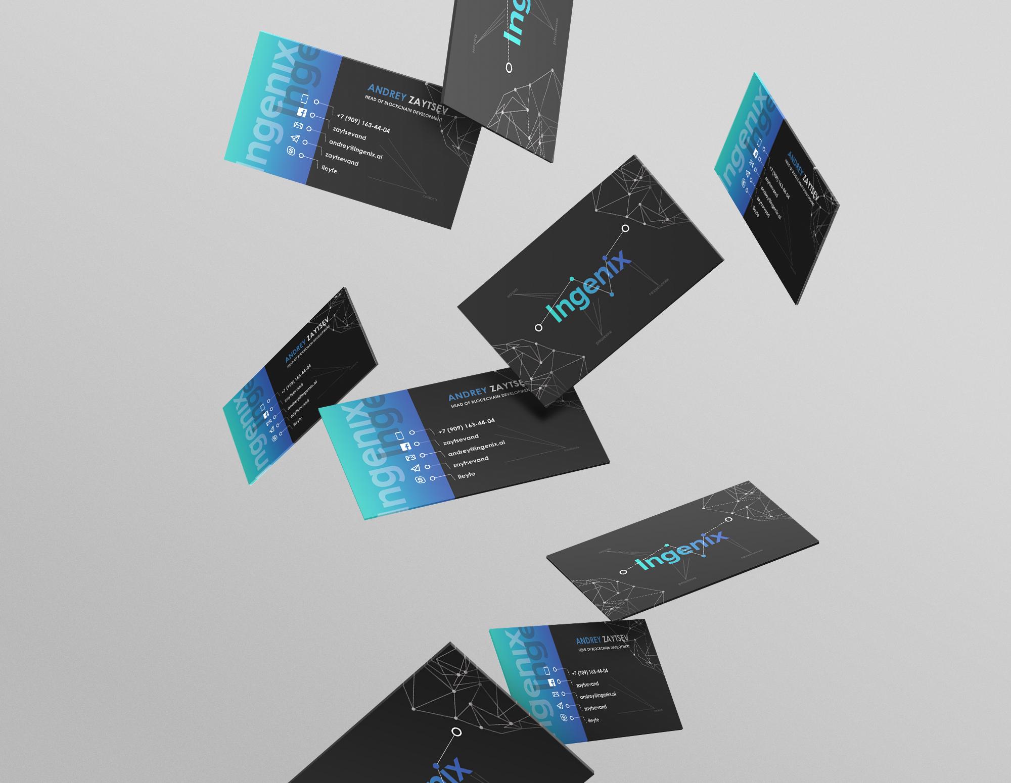 Дизайн визиток для компании (конкурс 1 место)