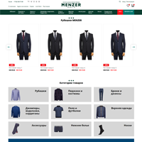 """Интернет-магазин одежды """"Menzer"""" на OpenCart"""