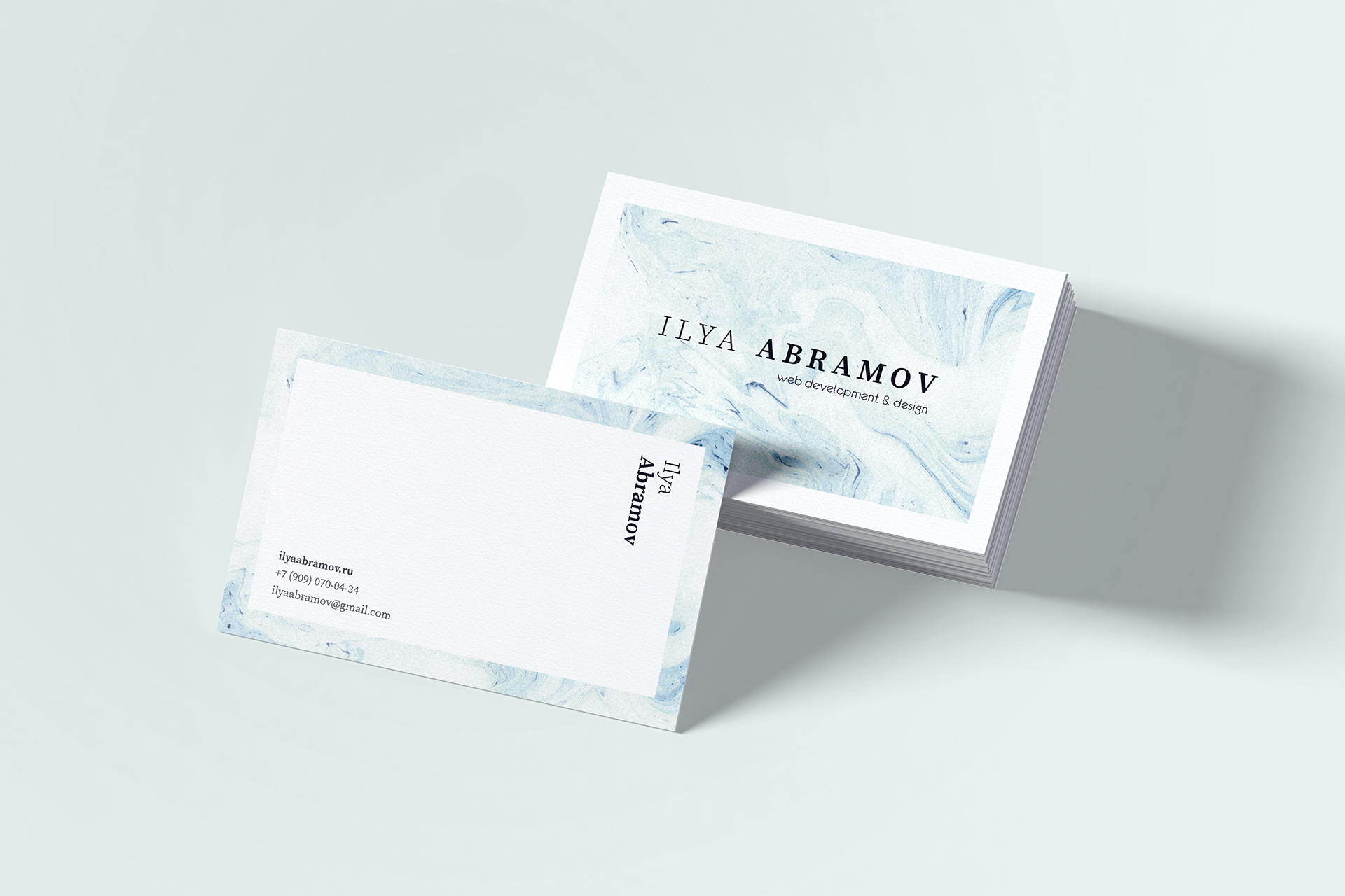 Ilya Abramov business card