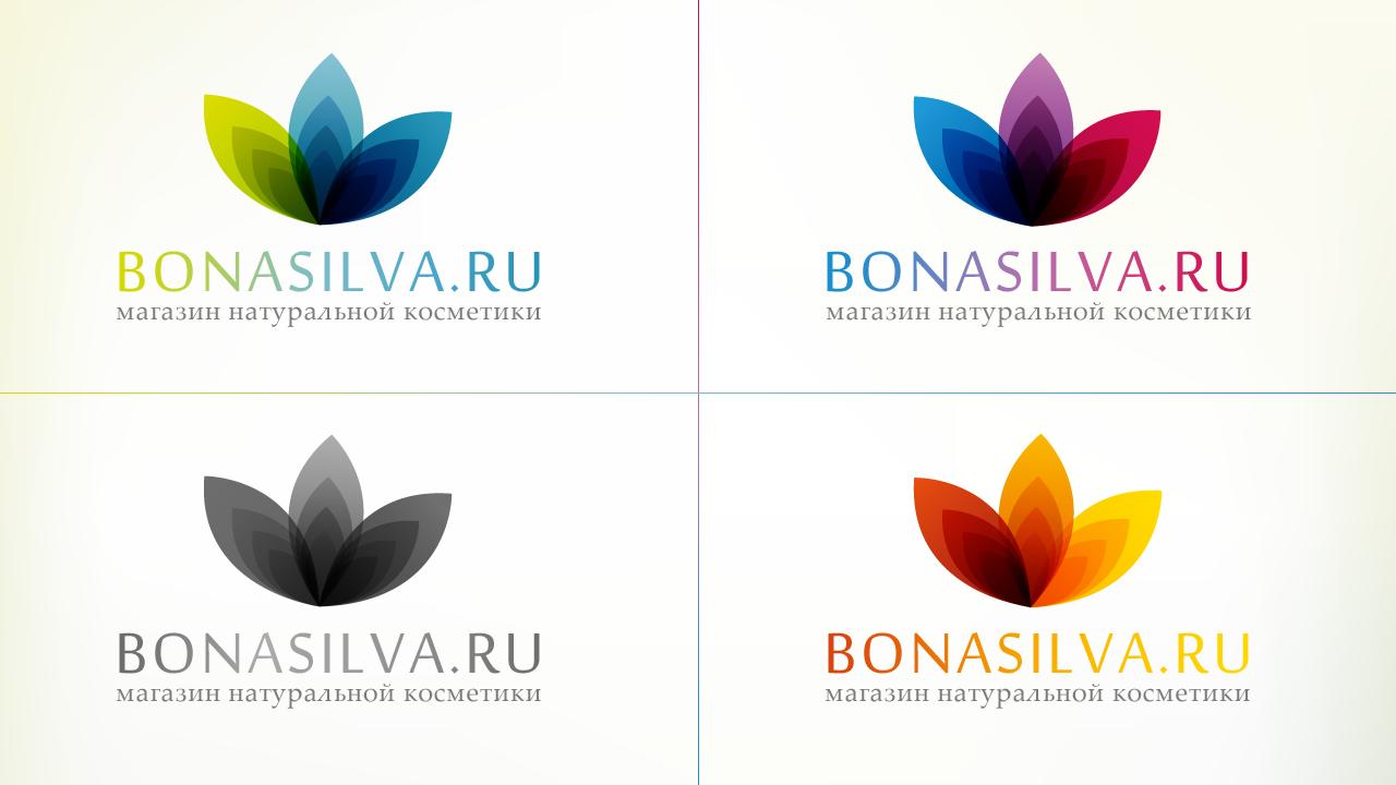 Логотип 2 для BONASILVA интернет магазин косметики