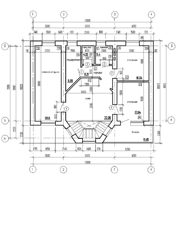 План частного жилого дома (2 этаж)