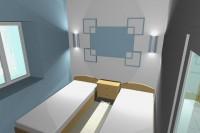 Визуализация интерьера спальни в жилом доме