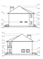 Частный жилой дом (Боковые фасады)