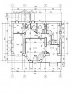 План частного жилого дома (1 этаж)
