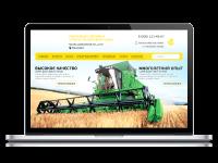 Корпоративный сайт компании-дистрибьютора озимой пшеницы
