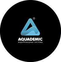 """Логотип водопроводных систем """"Aquademic"""""""