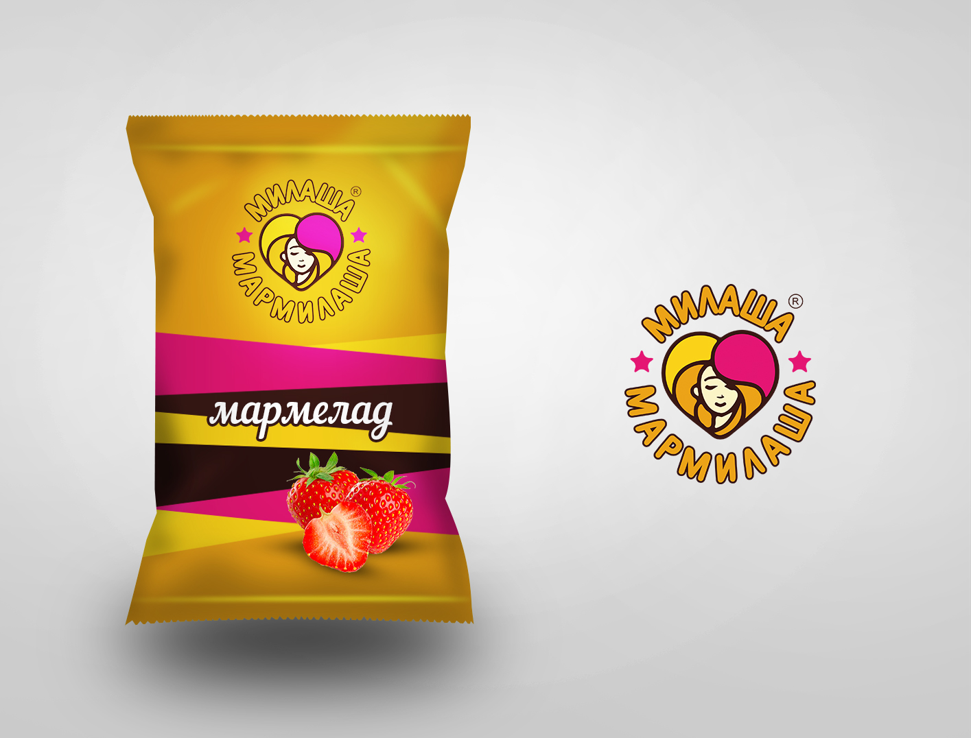 """Логотип для товарного знака """"Милаша-Мармилаша"""" фото f_8615883bff98167c.jpg"""