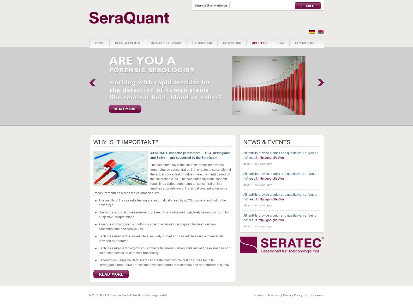 SeraQuant (HTML5, CSS3)