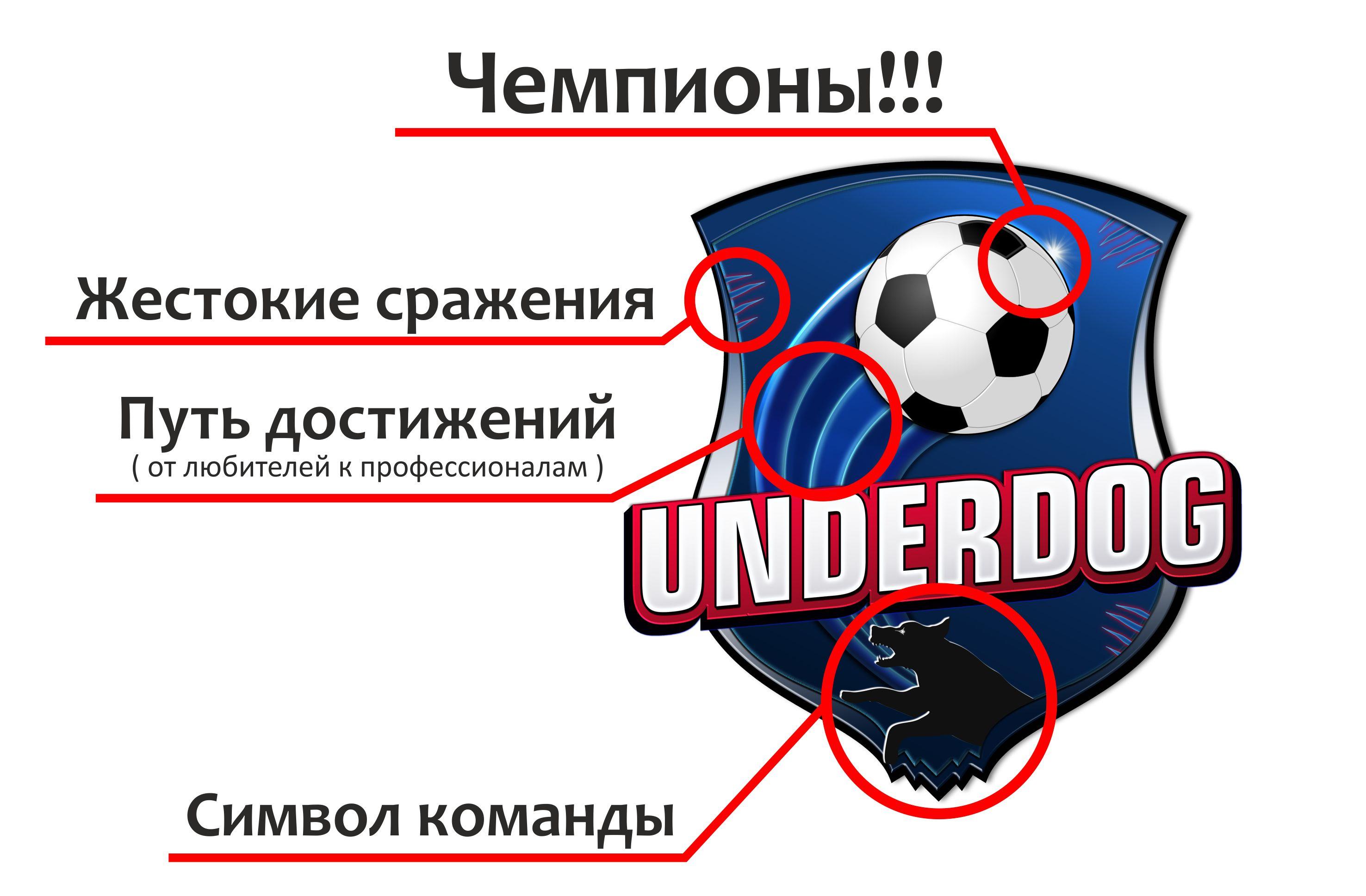 Футбольный клуб UNDERDOG - разработать фирстиль и бренд-бук фото f_5755cb4c49bd3c80.jpg