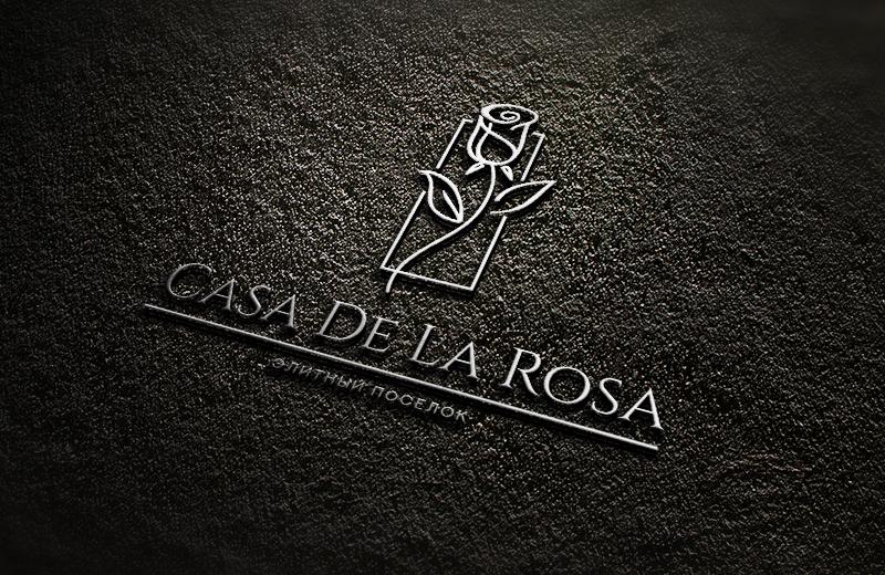Логотип + Фирменный знак для элитного поселка Casa De La Rosa фото f_2835cd49c27e495f.jpg