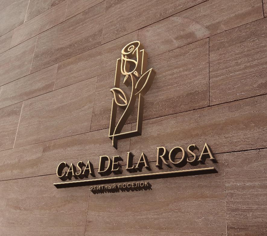 Логотип + Фирменный знак для элитного поселка Casa De La Rosa фото f_3575cd49c2f25486.jpg