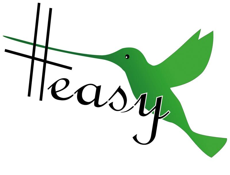 Разработка логотипа в виде хэштега #easy с зеленой колибри  фото f_8435d526b828fb3f.jpg