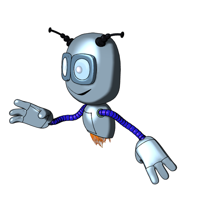 """Модель Робота - Ребёнка """"Роботёнок"""" фото f_4b578fcbd43ac.png"""