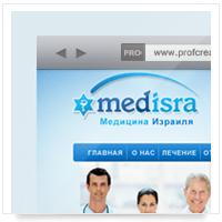 Дизайн сайта: Medisra – лечение и диагностика