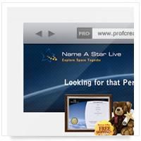 Дизайн сайта: Name a Star - назови звезду