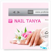 Дизайн сайта: маникюр и наращивание ногтей