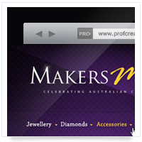 Дизайн сайта: Makers Mark - ювелирные украшения