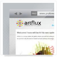 Дизайн сайта: ArtFlux – фото, арт галерея v.1