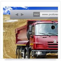 Дизайн сайта: Татра Урал, грузовые автомобили