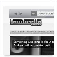 Дизайн сайта: магазин The Lambretta Store