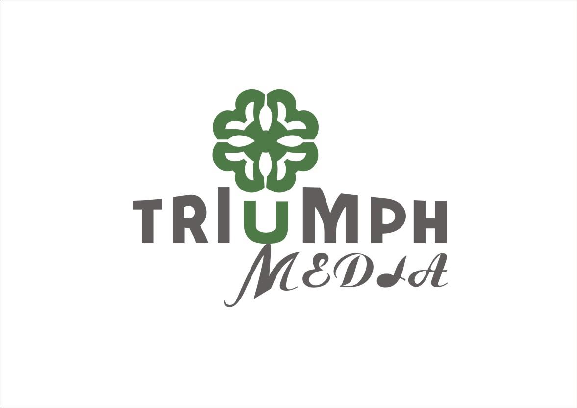 Разработка логотипа  TRIUMPH MEDIA с изображением клевера фото f_507581a6ce7eb.jpg