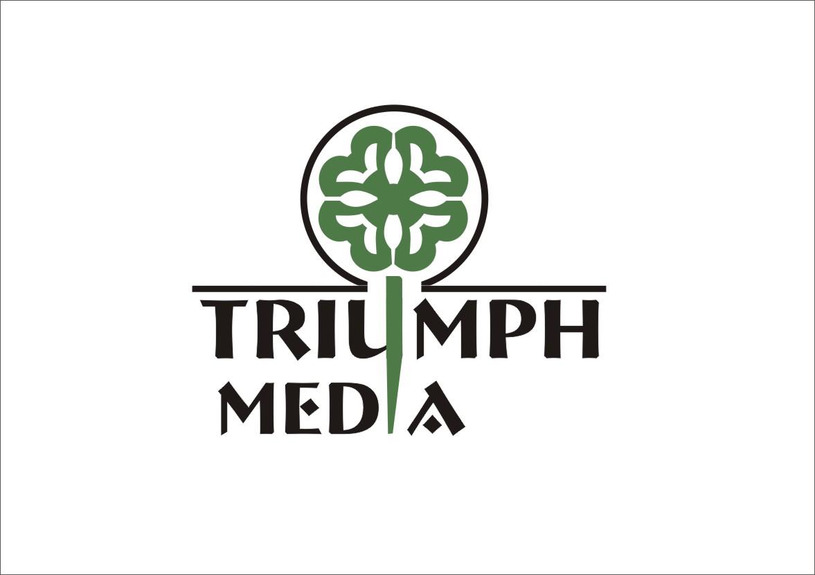 Разработка логотипа  TRIUMPH MEDIA с изображением клевера фото f_5076798b4921d.jpg