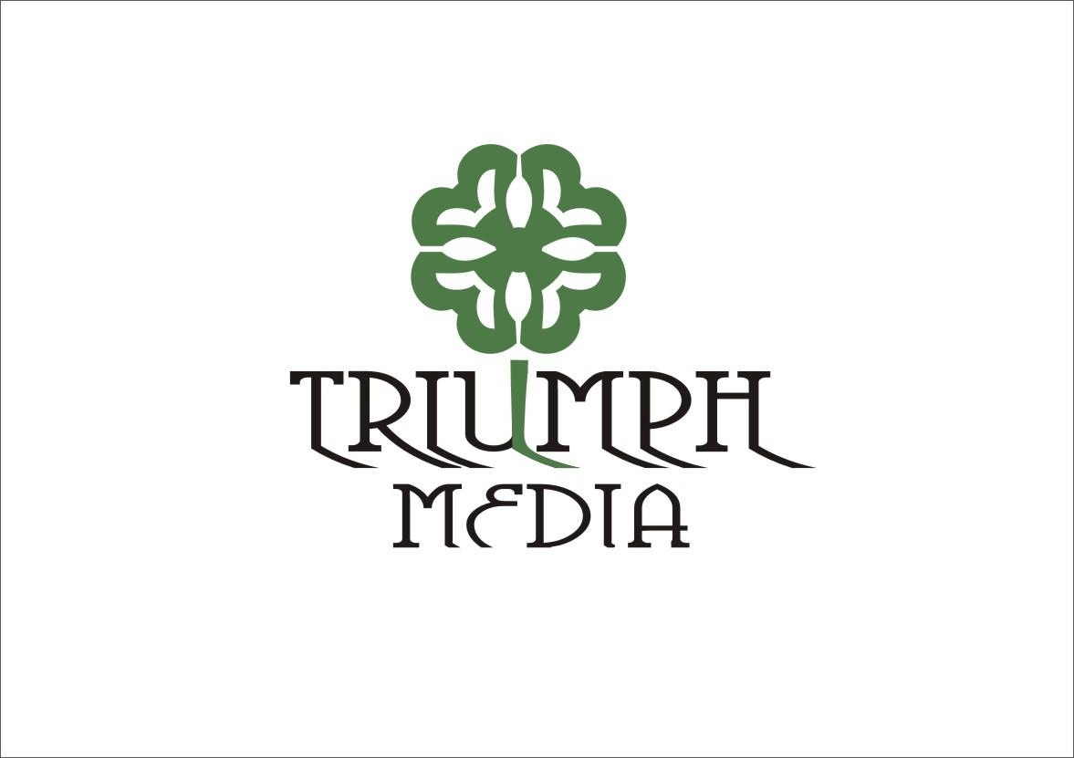 Разработка логотипа  TRIUMPH MEDIA с изображением клевера фото f_50767d25f10f9.jpg