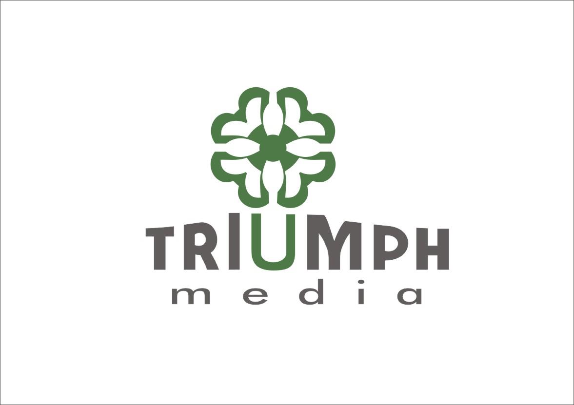 Разработка логотипа  TRIUMPH MEDIA с изображением клевера фото f_507682544ceb1.jpg