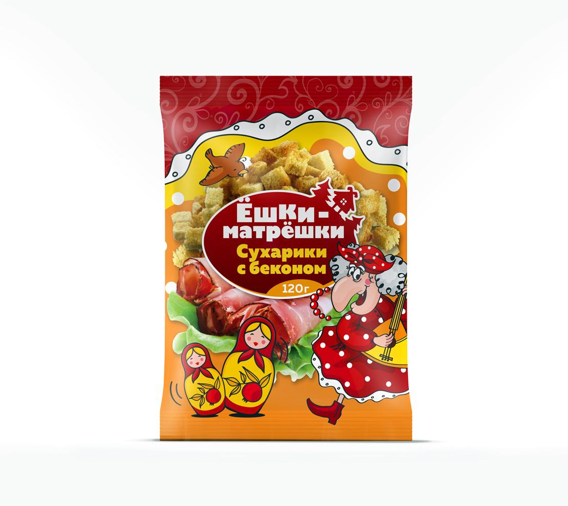 Разработайте дизайн упаковки сухариков ТМ «Ёшки-матрёшки» фото f_82359de60eb7c465.jpg