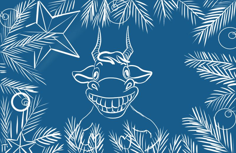 Создать рисунки быков, символа 2021 года, для реализации в м фото f_0455ef0b859118cd.jpg