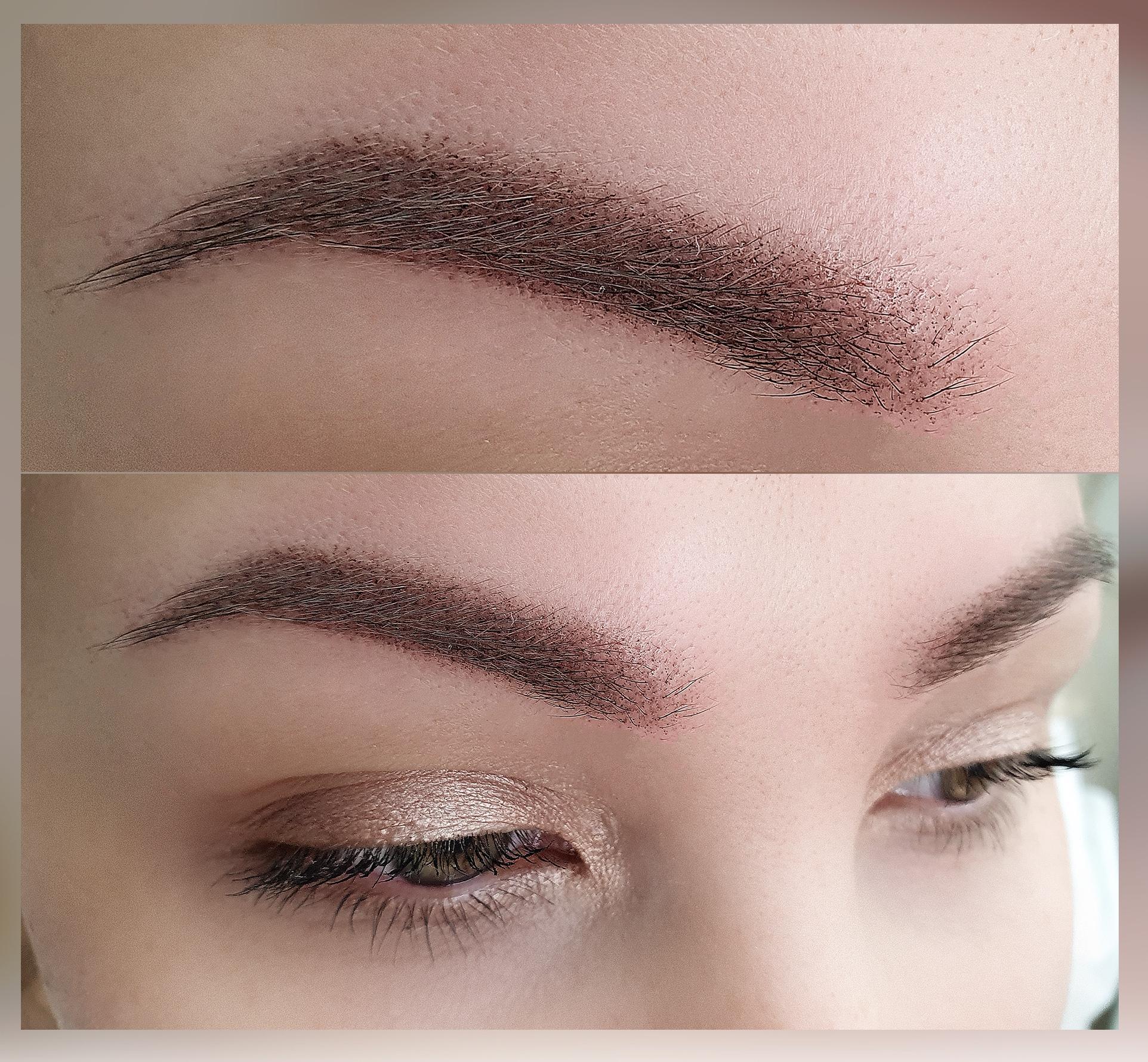 Перманентный макияж (коллаж)