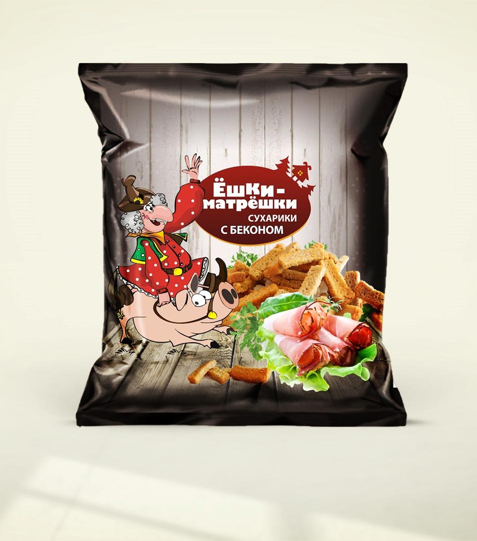 Разработайте дизайн упаковки сухариков ТМ «Ёшки-матрёшки» фото f_08359ea598e208b9.jpg