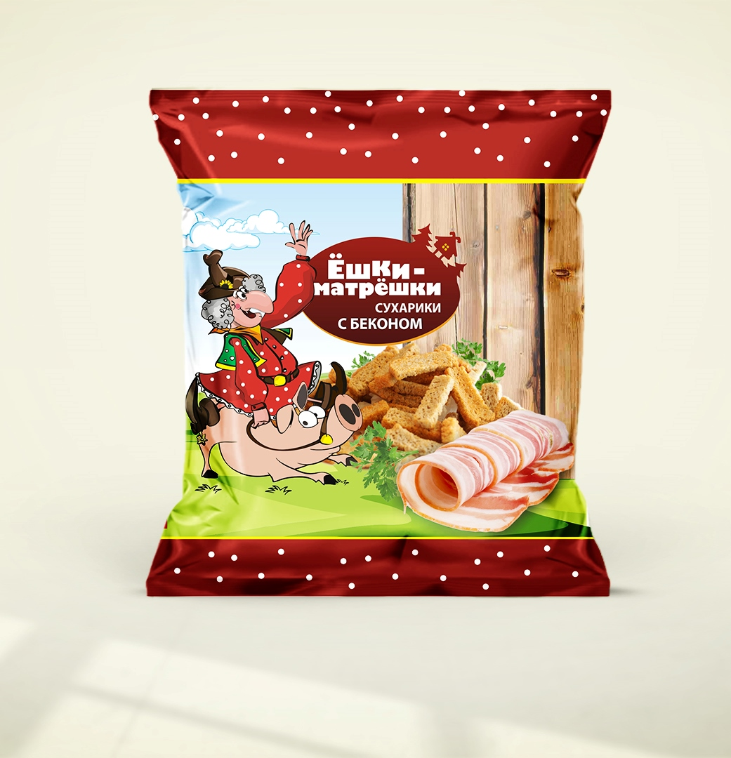 Разработайте дизайн упаковки сухариков ТМ «Ёшки-матрёшки» фото f_53659ea59a3dbb8a.jpg
