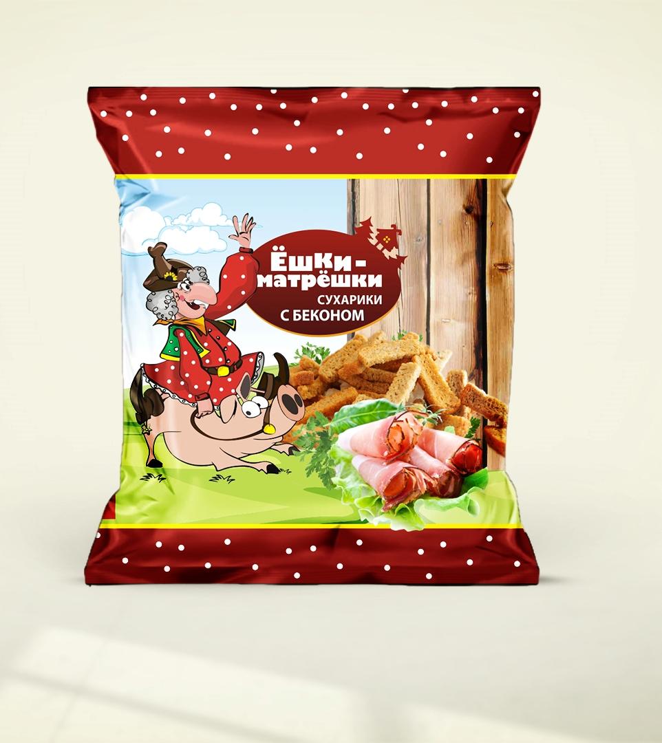 Разработайте дизайн упаковки сухариков ТМ «Ёшки-матрёшки» фото f_75059ea59999d845.jpg