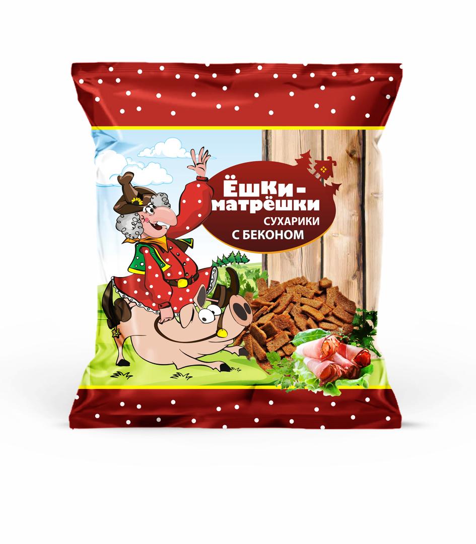 Разработайте дизайн упаковки сухариков ТМ «Ёшки-матрёшки» фото f_92359e5c044b0bf9.jpg