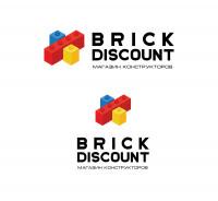 Первое место в конкурсе. Логотип для интернет-магазина конструкторов BRICK DISCOUNT