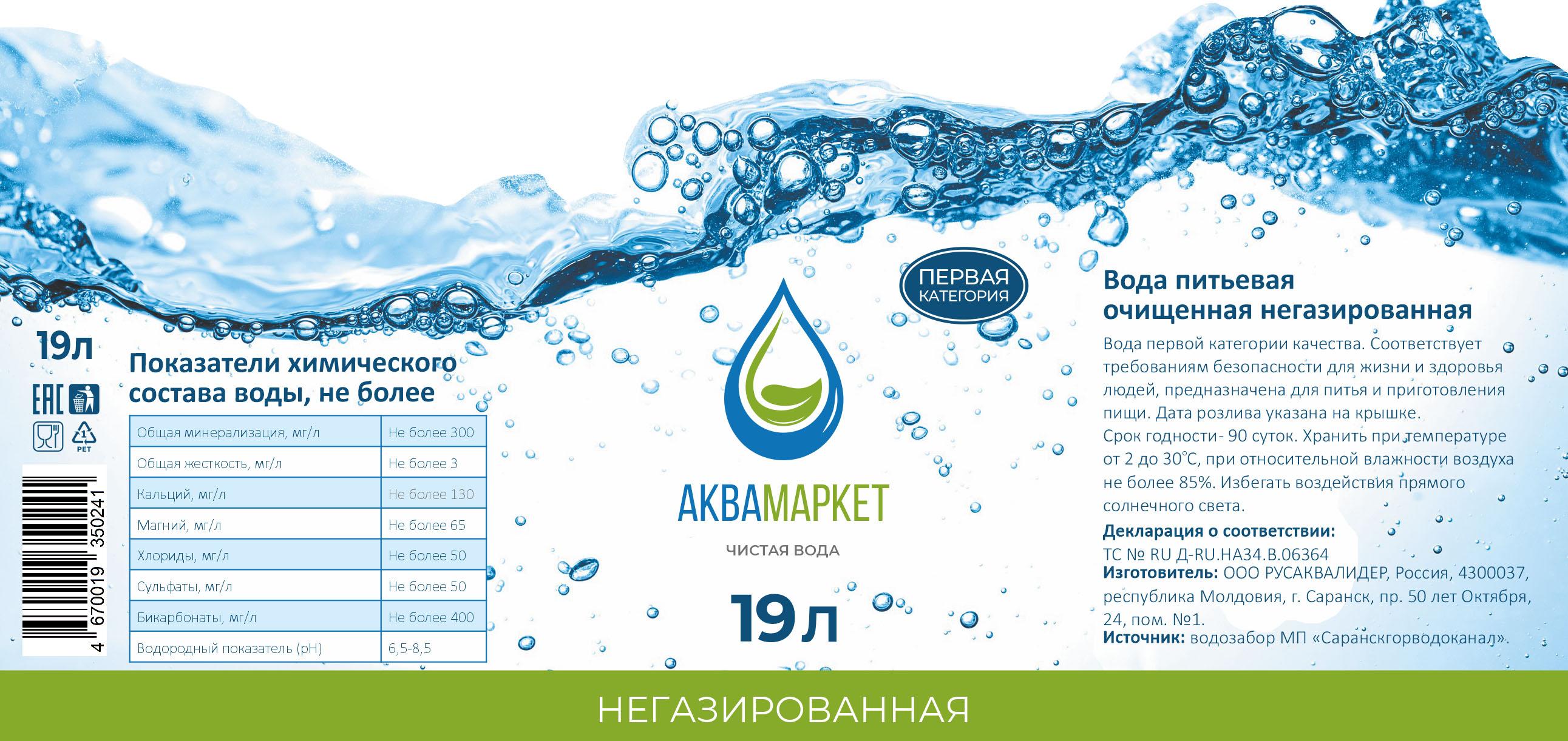 Разработка этикетки для питьевой воды в 19 литровых бутылях фото f_6695effe714370c0.jpg