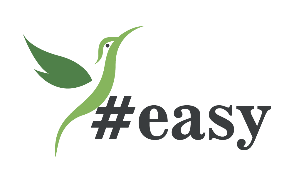 Разработка логотипа в виде хэштега #easy с зеленой колибри  фото f_2945d4e702fe703a.png