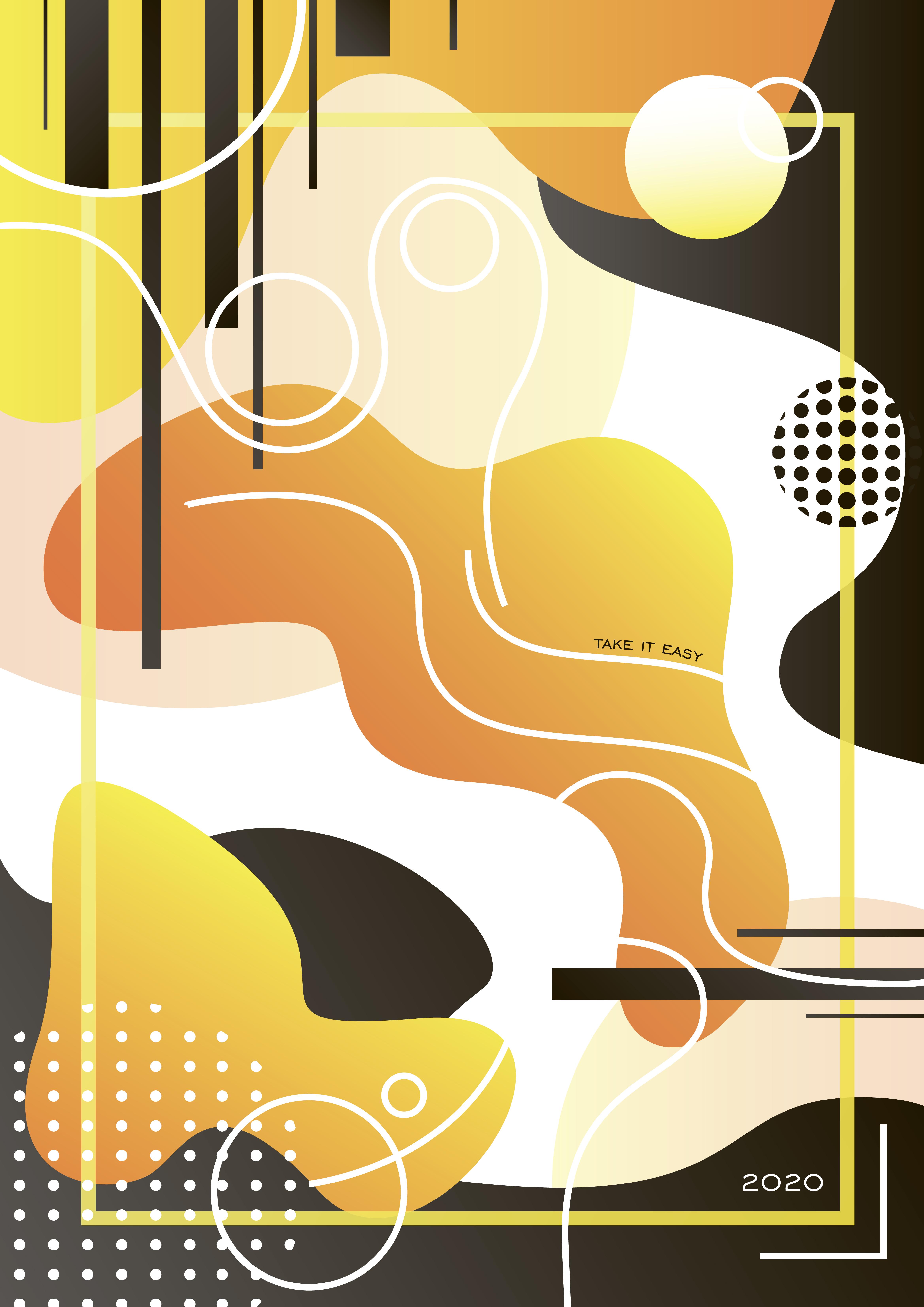 Серия абстрактных плакатов